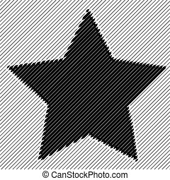 Abstract striped star backdrop