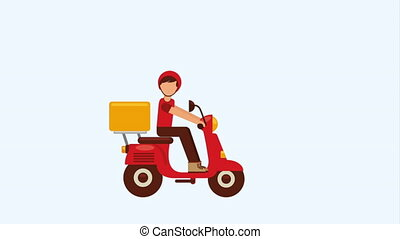 Food  Delivery Design, Video Animation HD1080
