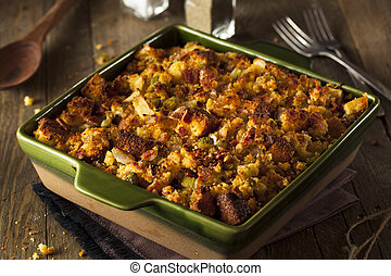 Traditional Homemade Cornbread Stuffing for the Holidays