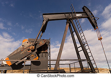 Wyoming Industrial Oil Pump Jack Fracking Crude Extraction...
