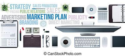 Business concepts and businessman's desktop