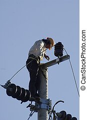 Electrician - This man maintains the power lines Relatively...