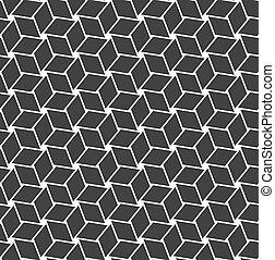 Seamless geometric op art texture Vector art