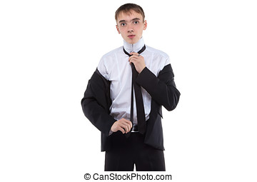 Man wearing suit and tie