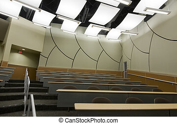 Interior of Lecture Hall at College
