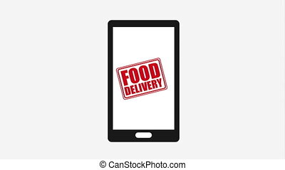 Online purchases and food delivery, Video Animation HD1080