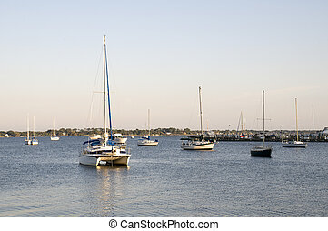 Sailboats on Indian River