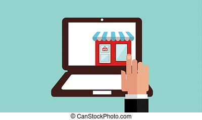 Online purchases Design, Video Animation HD1080