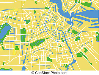 amsterdam - vector map of amsterdam