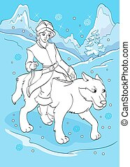Coloring Book Of Prince Ivan Rides Grey Wolf