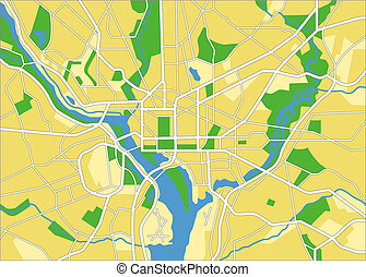 washington - vector map of Washington DC.