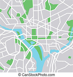 washington - vector map of Washington DC
