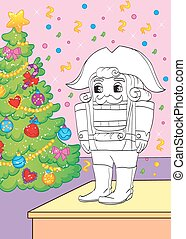 Coloring Book Of Fairy Tale Nutcracker - Vector illustration...