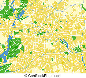berlin - Vector map of Baghdad.