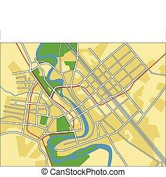 baghdad - Vector map of Baghdad.