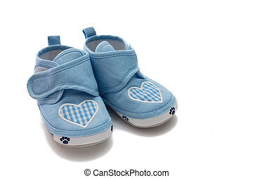 Pair of shoes - Childrens pair of shoes. The first boots.