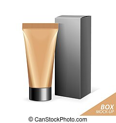 Realistic Tubes And Package Packing White Cosmetics Or...