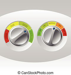 Rating meter design set of two