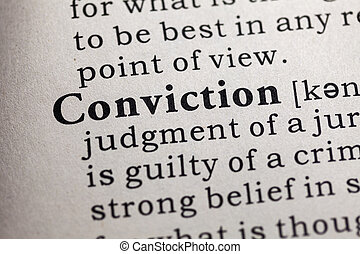 conviction - Fake Dictionary, Dictionary definition of the...