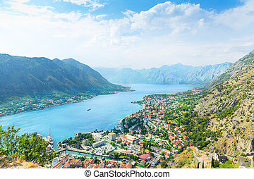 Kotor, Montenegro - View of harbor. Kotor, Montenegro