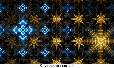 Neon Star Pattern - Animated background of a big neon sign...