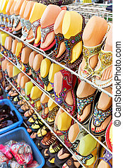 Colorful shoes for sale, Bangkok Thailand