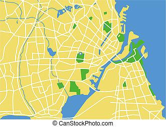 copenhagen - vector map of copenhagen.