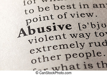 abusive - Fake Dictionary, Dictionary definition of the word...