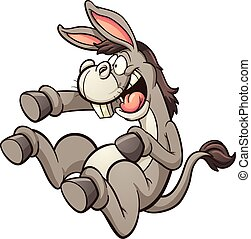 Laughing donkey - Donkey mocking and laughing hysterically....