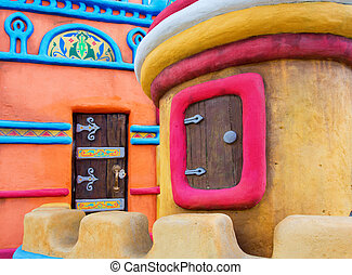 Fairy-tale castle - Fairy-tale colorful castle with small...