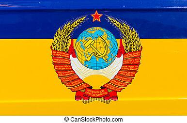 estado, emblema, de, el, U.R.S.S.,