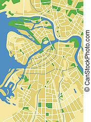 leningrad - Vector map of Leningrad.