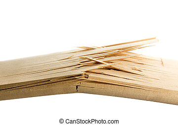 Broken wooden planks