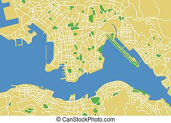 hongkong - Vector map of hongkong.