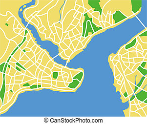 istanbul - Vector map of Istanbul.
