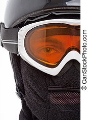 Snowboarder in balaclava - Close-up of snowboarder in...