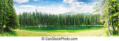 Crno Jezero, Montenegro - Panoramic view of small lake,...
