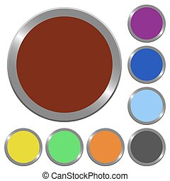 Color blank buttons
