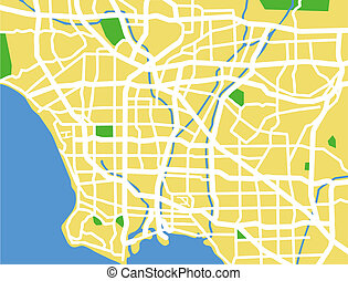 Los Angeles - vector map of Los Angeles