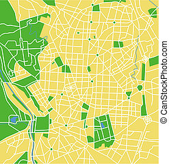 Madrid - Vector map of Madrid