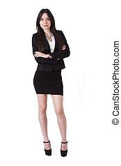 Business woman portrait Length
