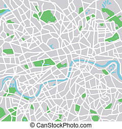 London - vector map of London