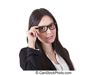 Business woman portrait half-length