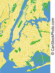 New York - vector map of New York.