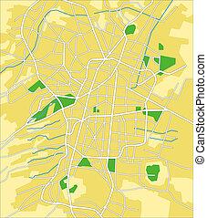 Mexico City - Vector map of Mexico City.