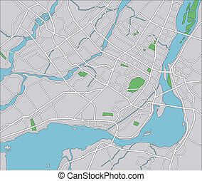Montreal - Vector map of Montreal.