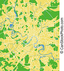 Moscow - Vector map of Moscow.