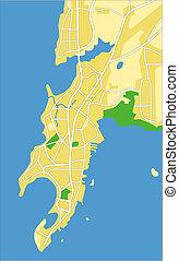 Mumbai - Vector map of Mumbai.