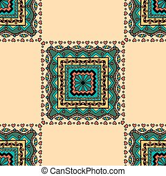 floral seamless pattern - Beautiful vintage colored seamless...