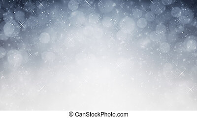 background silver blue light bokeh - illustration of a...